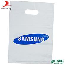 High quality white shopping printing company logo die-cut bags