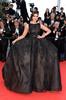 RCD12 Sonam Kapoor a-line high neck floor-length backless imitation celebrity red carpet dress lace