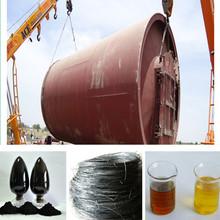 High Efficiency Waste Tyre Horizontal Rotating Pyrolysis Plant to Fuel Diesel oil