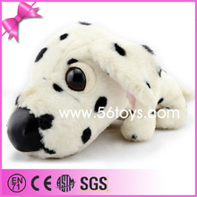 Big Head PU Nose Lying Posture 2014 China Best Made Top Quality Spotted Stuffed Plush Dog Toy