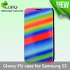 High quality Sublimation leather cover for Samsung Galaxy S5