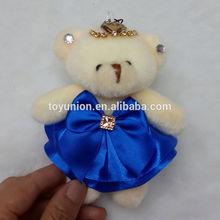 HY-63 blue skirt dressed bears/diamond bears/12cm joint small bears
