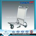 Nuevo diseño de aluminio plegable de la carretilla plegable en weels rápida, Aeropuerto equipaje equipaje de la carretilla