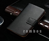 Nexus 4 Luxury Genuine Real Leather Wallet Stand Case for LG E960 Mobile Phone Bags Cases with Magnet Flap Closure