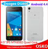 4.5 Inch Smartphone android DG800 with Back Touch & MTK6582 & Android 4.4 OS Telephone