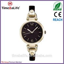 2014 new style slim band japan movement miyota quartz tortoise brown lady wrist stainless steel brand watch