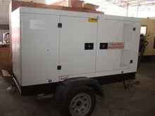 Global Service 150KVA Engine open type grain/cargo three axle semi trailer side wall