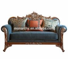 V511B-2 2014 new style french carved sofa set