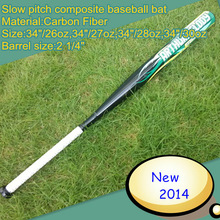 "Drop ten slow pitch composite softball bat from 31""-34""(-10) made from carbon fiber"