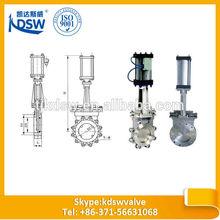 Pneumatic actuators,rising stem knife gate valve