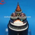 Núcleo de cobre 0.6kv a 10kv rg6 tri escudo coaxial cable