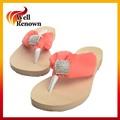 de alta calidad de cristal de la zapatilla de tacón sandalia flip flops