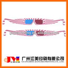 popular disposable foldable 3d cheap paper glasses