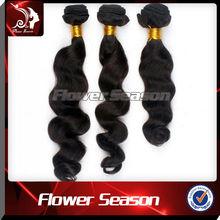 2014 Unprocessed brazilian virgin wholesale black hair products