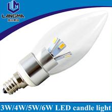 UL wholesale price warm white clear 3w e14 7w led candle bulb
