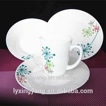 ceramic dinner set composition,Porcelain Ceramic Type Certification porcelain dinnerware set