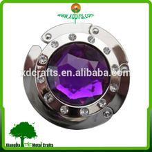 custom metal purple Stones bag hangers for wedding gift
