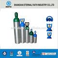 Tped punto material de aluminio de gas propano 1l-50l cilindros de aluminio vacía del cilindro de gas del cilindro