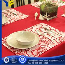 Organza Fabric hot sale Plain jute burlap table cloths for wedding