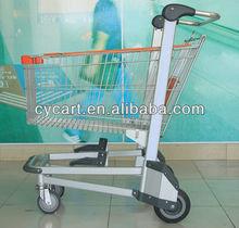 4 wheel 150L shopping aluminium trolley shopping cart for elderly