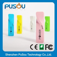 Customized logo,PMS color fast charging power bank 2400mah with cheap price