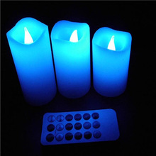 Colour Changing flameless real wax LED Candle