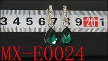 2014latest version Fashion Design sapphire stone acrylic Crystal Tear Drop Earrings
