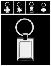 HOT SALE!!! high quality fashion blank metal keychains for sublimation printing