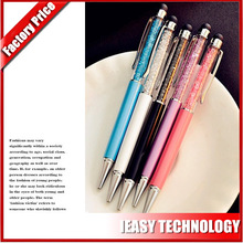 good gift diamond touch screen pen with rubber tip stylus pen for tablets