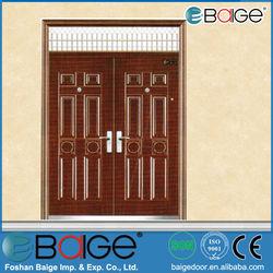 BG-S9107 latest design steel security iron gate door prices /american steel doors