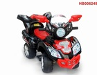 Electric 4 Wheels Children Motorcycle, Black Color