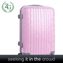 Beautiful Pink Polka Dot Trolley Luggage ,hard girl luggage