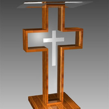 Pure High Grade Cheap Acrylic Wood Church Pulpit
