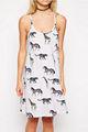 2014 oem proveedor de china de las señoras cami sexy vestido de verano en animales geo- tribal
