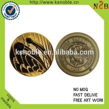customized metal gold logo craft old coin price