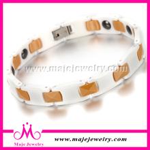 Hot sale sport fitness control bracelet white gold metal bangle
