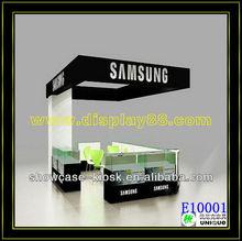 mobile /cell phone kiosk/display shocase for shopping mall orstore
