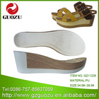 thick pu shoe soles for lady's sandals