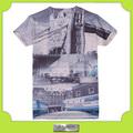 Custom t- camisa impressão por sublimação total para homens e mulheres
