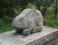 China melhor preço de mármore gild ovelhas rosto buda