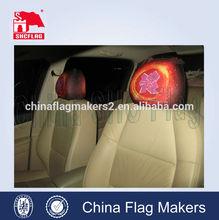 no moq durable custom logo printing headrest cover for cars