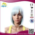2014 New fashion style customizable cheap short style gray wig