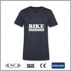 china high quality 95% cotton 5% spandex men black wide v neck t shirts