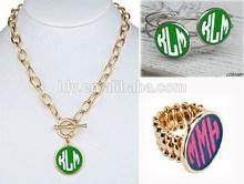 Monogram jewelry enamel wholesale jewelry ali express