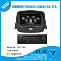 Dvd de voiture pour peugeot 206 avec gps 7 pouces. ipod rds radio bluetooth 3g wifi, 20 disque 4c s100 plateforme( tid- c085)