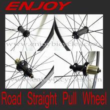 enjoybicycle 700c carbon straight pull wheelsets, POWERWAY R36 hub,Pillar 1420 blade spoke,27mm wide U shape, basalt, high TG.