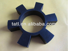 Black rubber coupling parts with six square claw wholesale