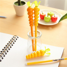 New brand name cheap school stationery carrot design cute multi color ballpoint pen CP1037