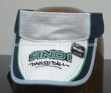 custom piping sun visor cap