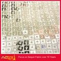 Chuva gota lantejoula tafetá tecido 100% atacado de moda poliéster decoração da parede de arame